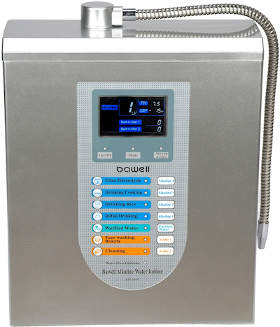 Bawell Fountain model 1775 water ionizer comparison