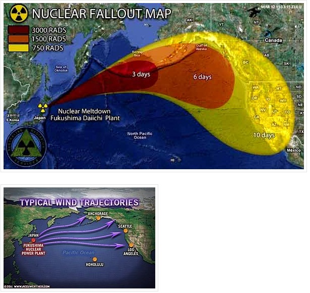 Fukushima Fallout Usa Map