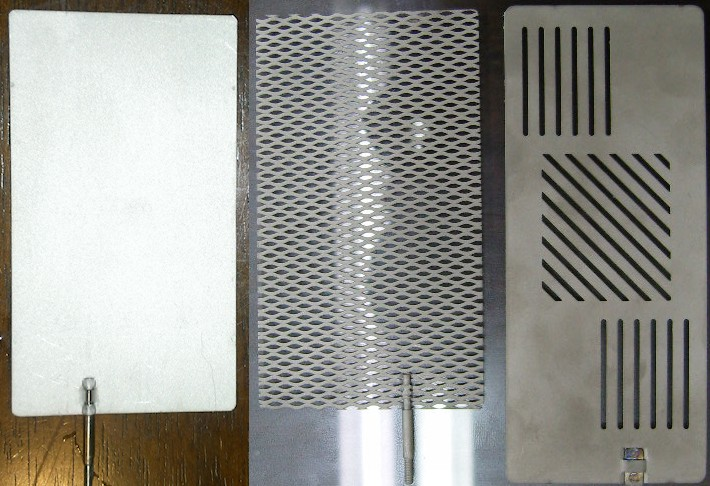 Flat Solid Mesh and Slotted Water Ionizer Plates