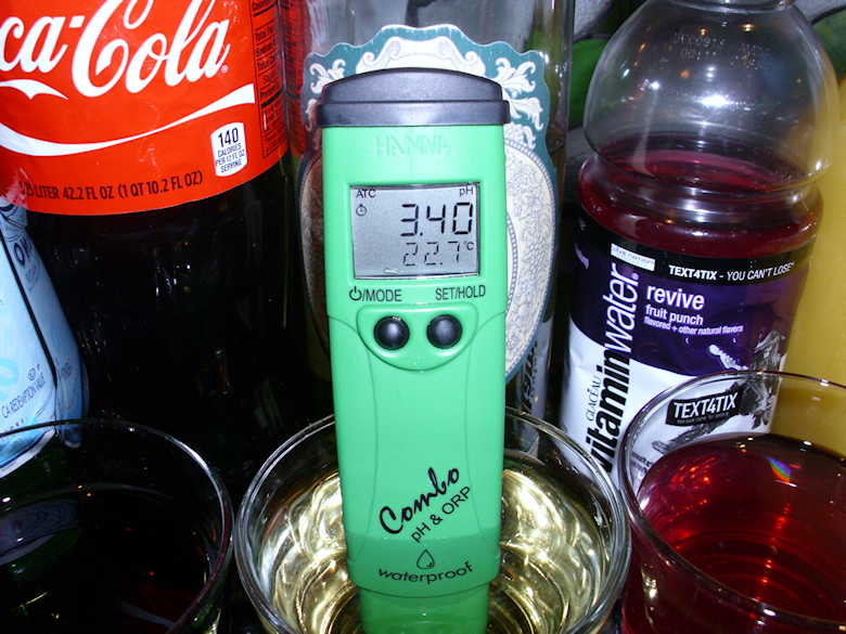 The PH of Alcohol is also very acidic.